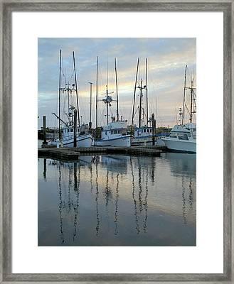 Charleston Boats Framed Print