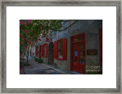 Charleston Catfish Row Framed Print
