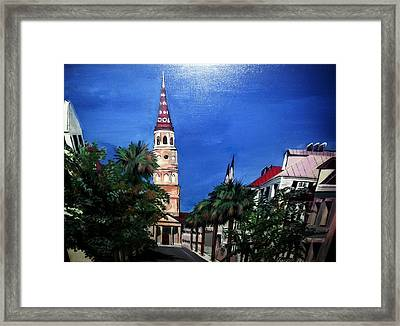 Charleston Church Street  Framed Print