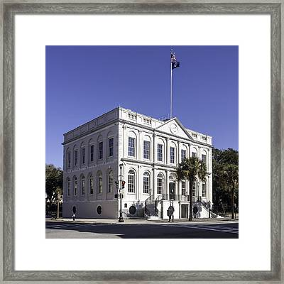 Charleston City Hall Framed Print by Lynn Palmer