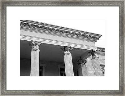 Charleston Columns Framed Print by Manda Renee