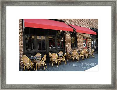 Charleston French Restaurant Outdoor Cafe - Rue De Jean - Charleston French Cafe Bistro  Framed Print