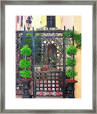 Charleston Gate Charleston Sc Framed Print