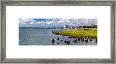 Framed Print featuring the photograph Charleston Harbor by Sennie Pierson