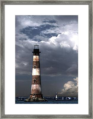 Charleston Lights Framed Print by Skip Willits
