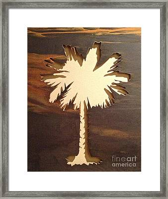 Charleston Palmetto Framed Print by M West
