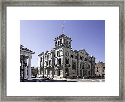 Charleston Post Office And Courthouse Framed Print by Lynn Palmer