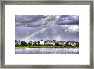 Charleston Rainbow Homes Framed Print by Dustin K Ryan