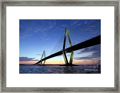 Charleston Ravenel Bridge Sunset Framed Print by Dustin K Ryan