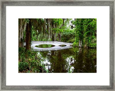 Framed Print featuring the photograph Charleston Sc Bridge by John Johnson