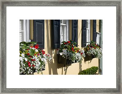 Charleston Sc Window Dressing Framed Print