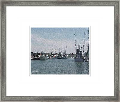 Charleston Shrimp Boats Framed Print