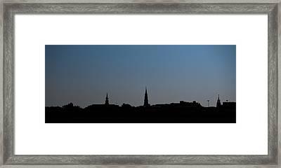 Charleston Silhouette Framed Print