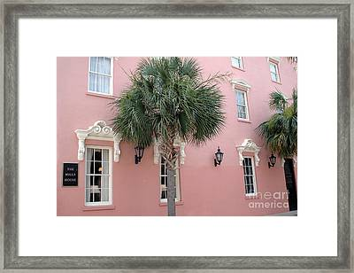 Charleston South Carolina Pink Architecture Historical District - The Mills House Framed Print