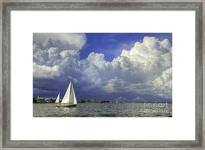 Charleston South Carolina Thunderstorms  8/2013 Framed Print