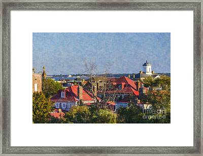 Charleston Tree Top View Framed Print