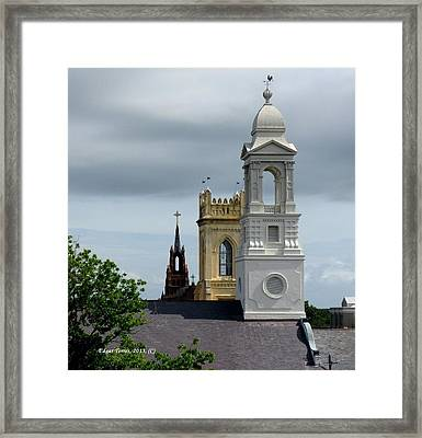 Charleston View Framed Print