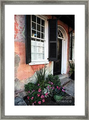 Charleston Welcome Framed Print by John Rizzuto