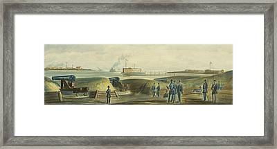 Charlestons Defense Circa 1863 Framed Print by Aged Pixel