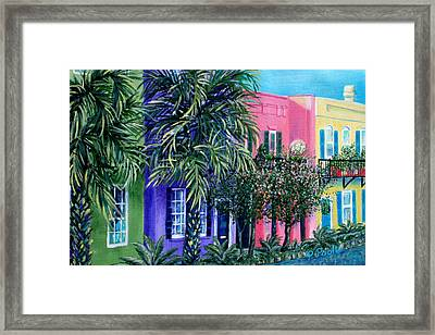 Charleston's Own Rainbow Framed Print