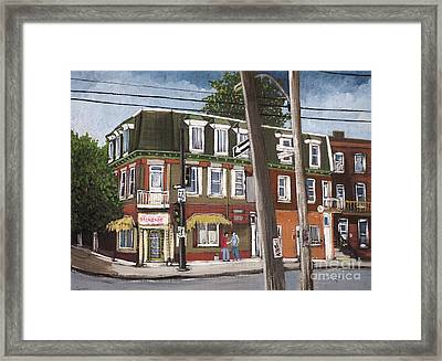Charlevoix And Mullins Pointe St. Charles Framed Print by Reb Frost