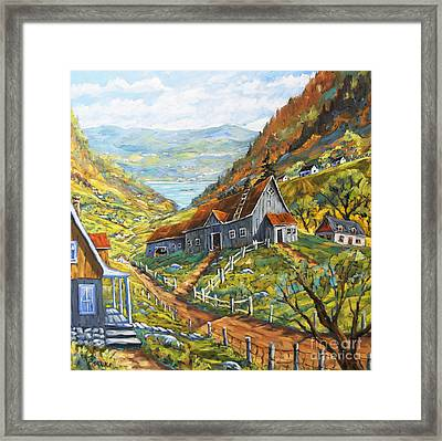 Charlevoix Valley By Prankearts Framed Print by Richard T Pranke