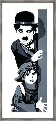 Charlie And The Kid Framed Print