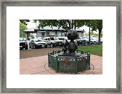 Charlie Brown And Snoopy At Historic Railroad Square Santa Rosa California 5d25825 Framed Print