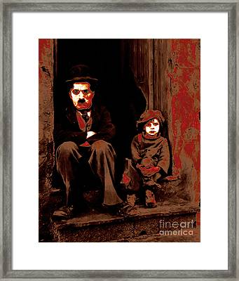 Charlie Chaplin 20130212-2 Framed Print by Wingsdomain Art and Photography