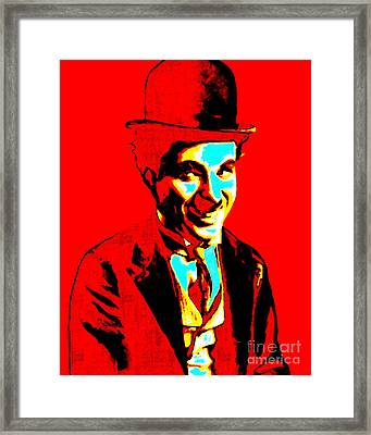 Charlie Chaplin 20130212 Framed Print by Wingsdomain Art and Photography