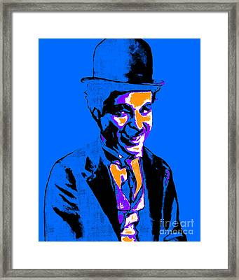 Charlie Chaplin 20130212m145 Framed Print by Wingsdomain Art and Photography