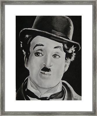 Charlie Chaplin Framed Print by Aaron Balderas