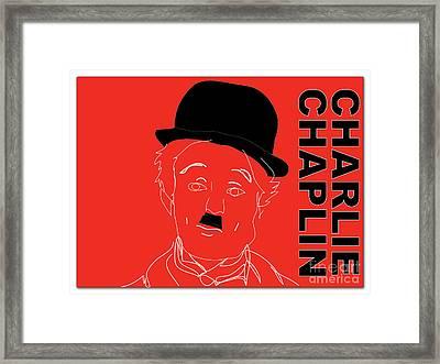 Charlie Chaplin Framed Print by Marvin Blaine