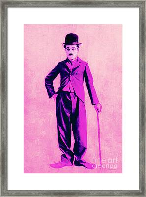 Charlie Chaplin The Tramp 20130216 Framed Print by Wingsdomain Art and Photography
