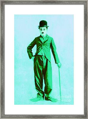 Charlie Chaplin The Tramp 20130216m150 Framed Print by Wingsdomain Art and Photography
