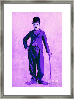 Charlie Chaplin The Tramp 20130216m40 Framed Print by Wingsdomain Art and Photography