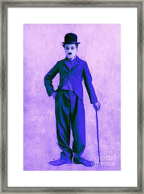 Charlie Chaplin The Tramp 20130216m60 Framed Print by Wingsdomain Art and Photography