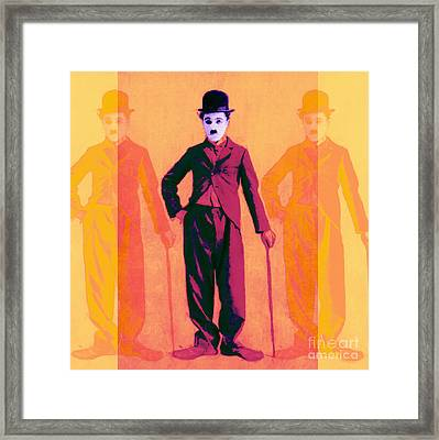 Charlie Chaplin The Tramp Three 20130216 Framed Print by Wingsdomain Art and Photography