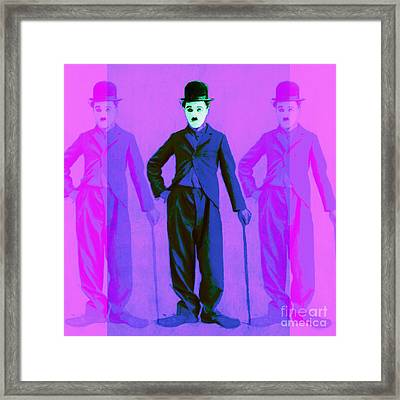Charlie Chaplin The Tramp Three 20130216m108 Framed Print by Wingsdomain Art and Photography