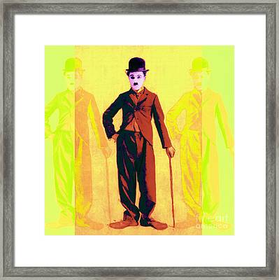 Charlie Chaplin The Tramp Three 20130216p30 Framed Print by Wingsdomain Art and Photography