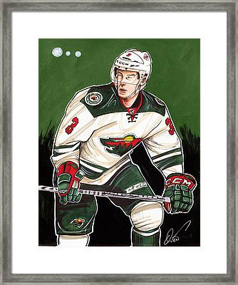 Charlie Coyle Of The Minnesota Wild Framed Print by Dave Olsen