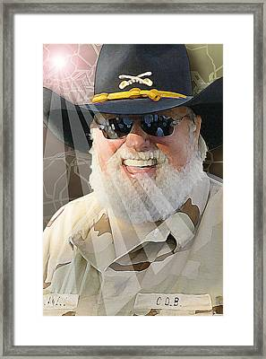 Framed Print featuring the digital art Charlie Daniels by Don Olea