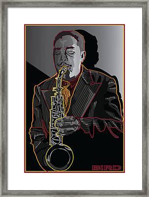 Charlie Parker Jazz  Saxophone Legend Framed Print by Larry Butterworth