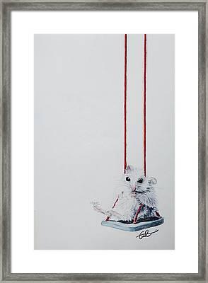 Charlie The Mouse Framed Print
