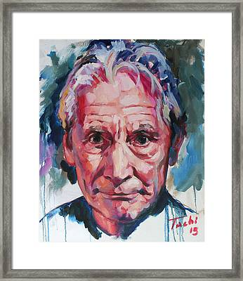 Charlie Watts Framed Print by Tachi Pintor