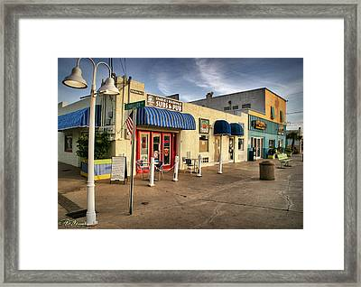 Charlie's Boardwalk Framed Print