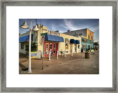 Charlie's Boardwalk Framed Print by Phil Mancuso