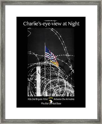 Charlie's-eye-view At Night Framed Print by Robert J Sadler