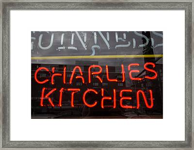 Charlies Kitchen Framed Print