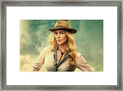 Charlize Theron A Million Ways To Die In The West  Framed Print by Movie Poster Prints